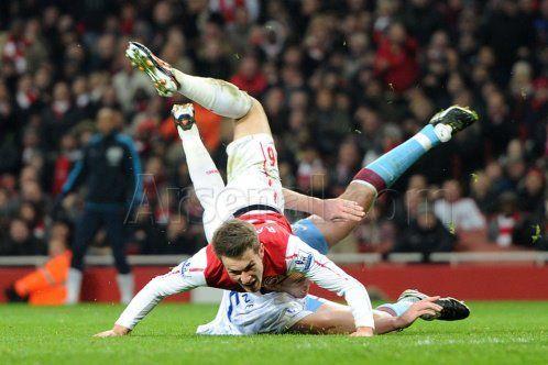 Ramsey Fouled vs Aston Villa 2011-2012.