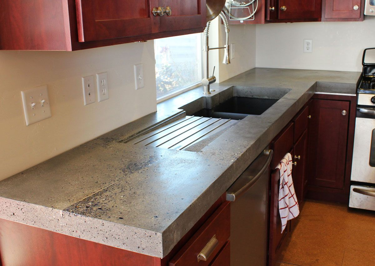how to make polished concrete countertops
