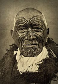 ancient tattoo - maori chief
