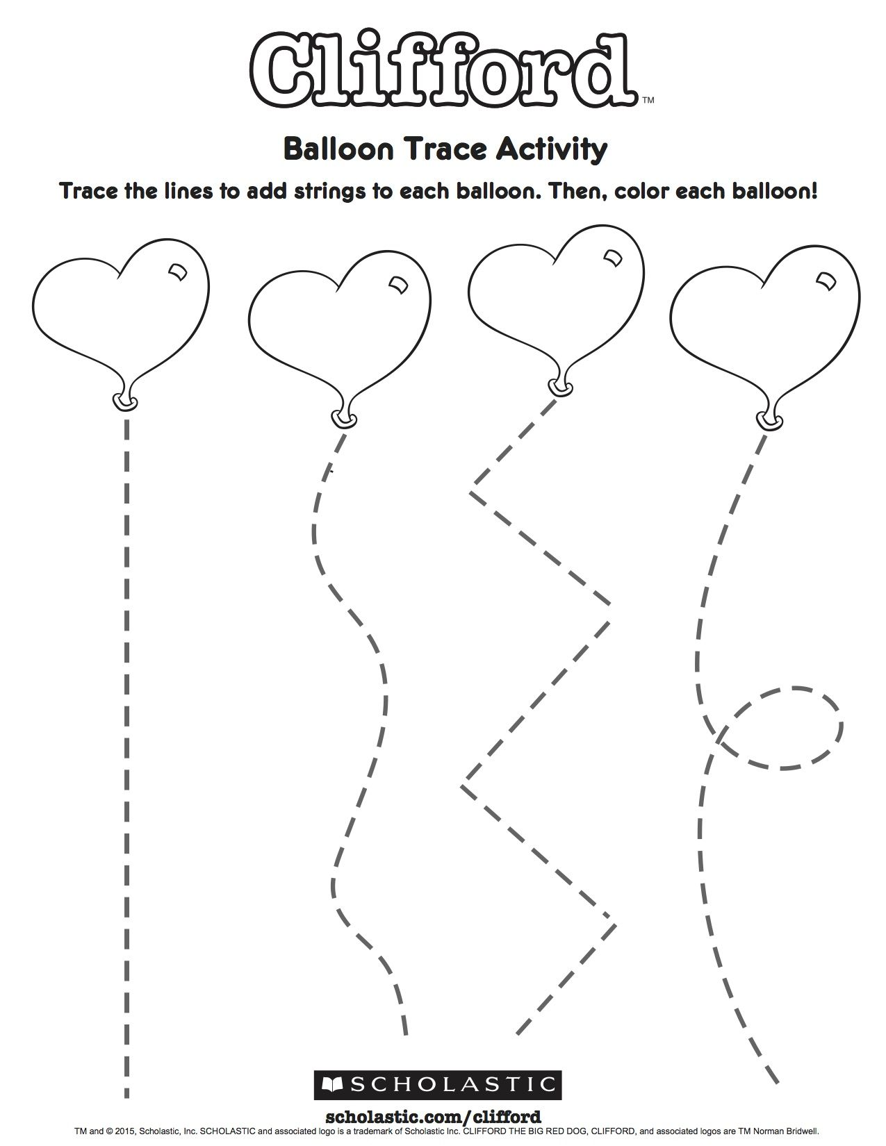 These Heart Balloons Need Strings Ask Your Child To Draw