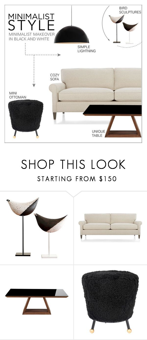 """""""Minimalist style"""" by taniadeseptembre ❤ liked on Polyvore featuring interior, interiors, interior design, home, home decor, interior decorating, Crate and Barrel, jared, Safavieh and Tech Lighting"""