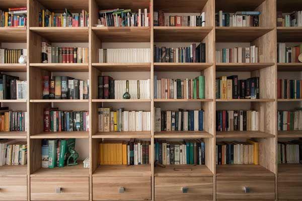 Bücherregal Eiche Massiv   Bücherwand, Buch wand, Regalwand