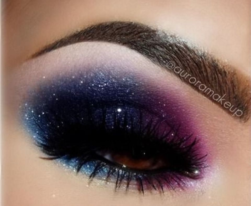 Galaxy Smokey Eye Makeup Galaxy Makeup Eye Makeup Eye Makeup Art