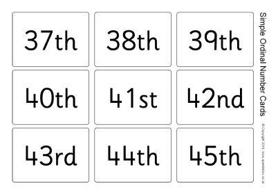 Simple Ordinal Number Flash Cards (SB11568) - SparkleBox | Esl ...