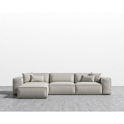Brayden Studio Conklin Sectional In 2020 Low Sofa Sectional Low Couch