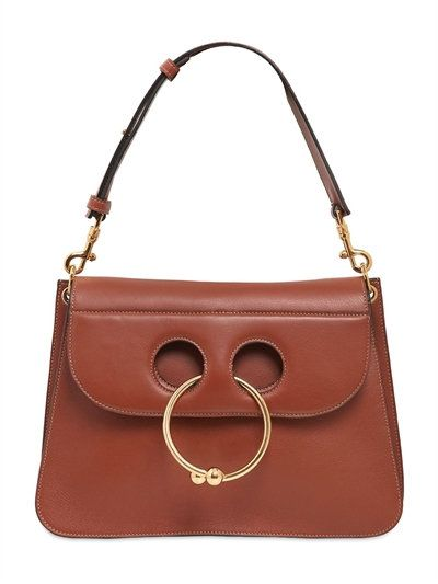 J.W.ANDERSON Piercing Detail Leather Shoulder Bag, Tan. #j.w.anderson #bags #shoulder bags #leather #lining #