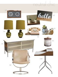 A Mid Century Modern Office I Actually Already Have The Phone In My Love Lamps And Decorative Ideas Design