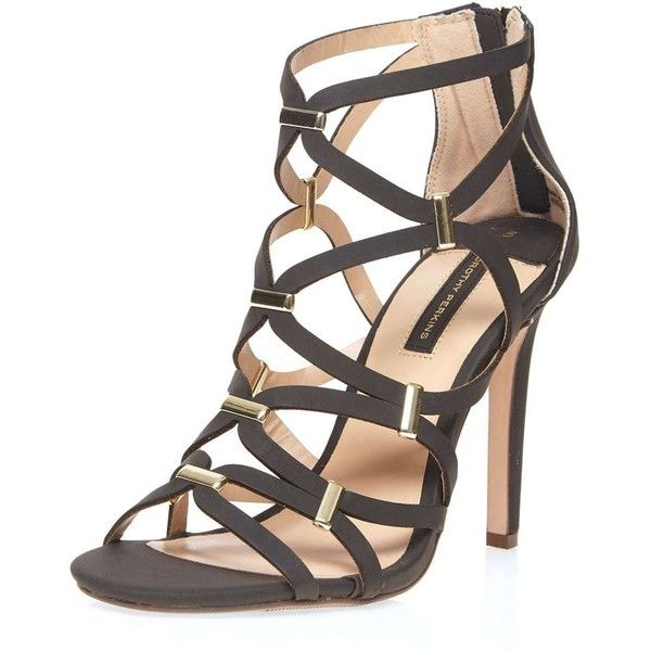 36a7997b3f4 Dorothy Perkins Black  Safari  Caged Sandals ( 59) ❤ liked on Polyvore  featuring shoes
