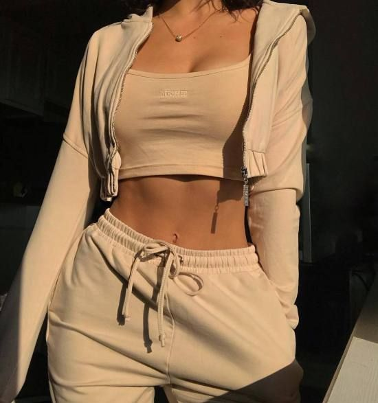 Photo of Women long-sleeved play suit leisure two piece suit for sports