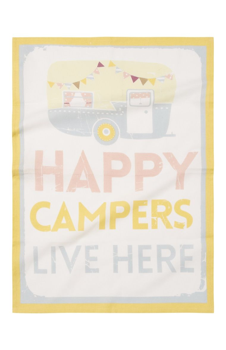 Primark Happy Camper Geschirrtuch Happy Campers