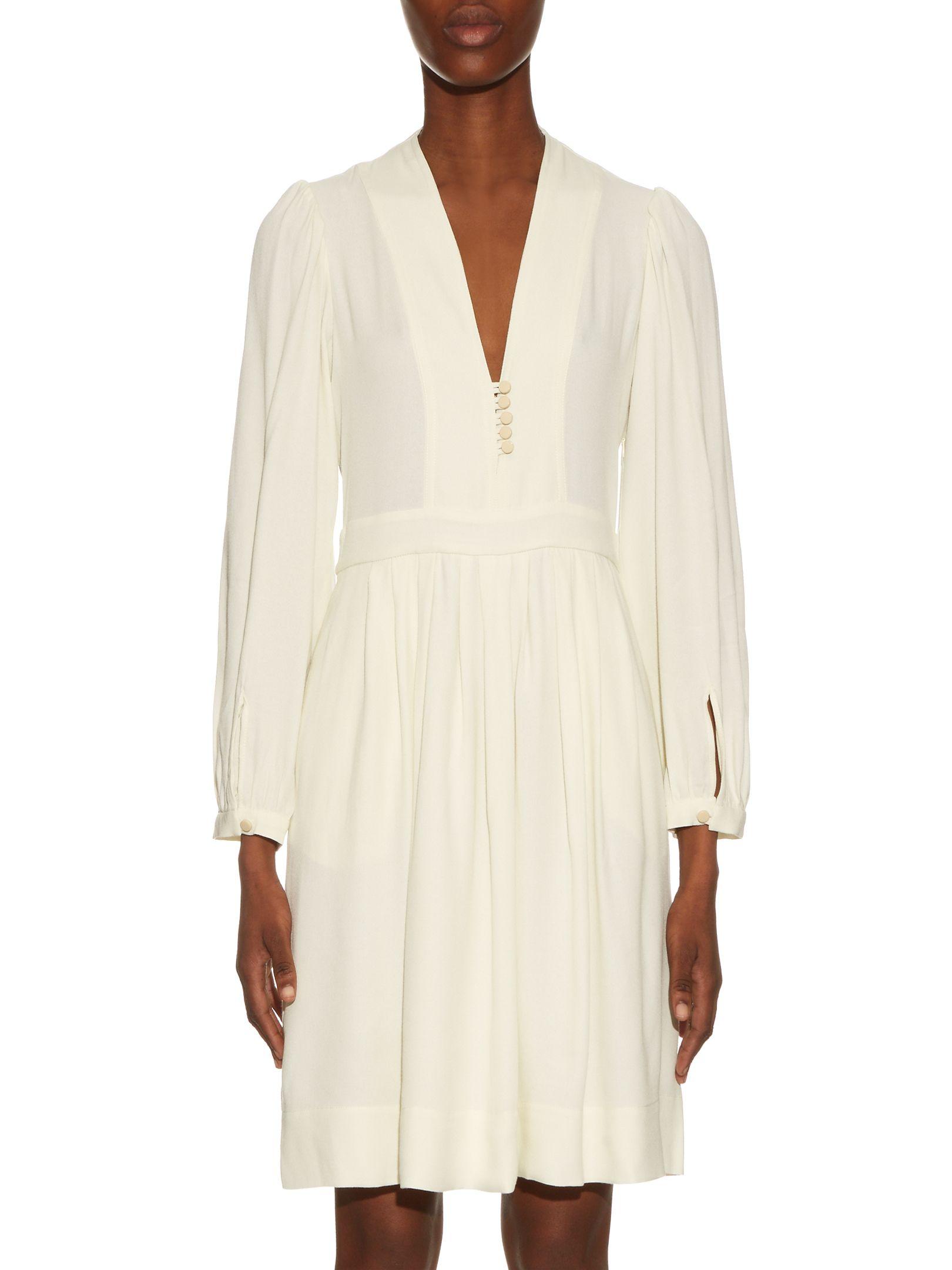 362209742f Click here to buy Isabel Marant Étoile Neil V-neck crepe dress at  MATCHESFASHION.COM