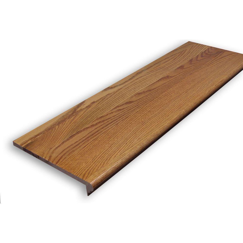 Stairtek 0 625 In X 11 5 In X 48 In Prefinished Gunstock Red Oak Retread Xbtro114800250 Wood Stairs Wood Stair Treads Stair Renovation