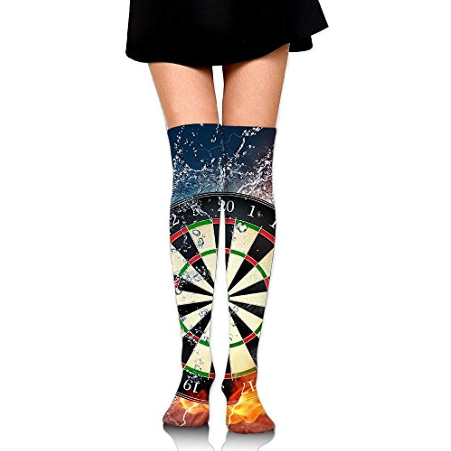 Pengmin Black Red And Green Darts Cotton Compression Socks For Women Graduated Stockings For Nurses Maternity Trav Cotton Compression Socks Maternity Women