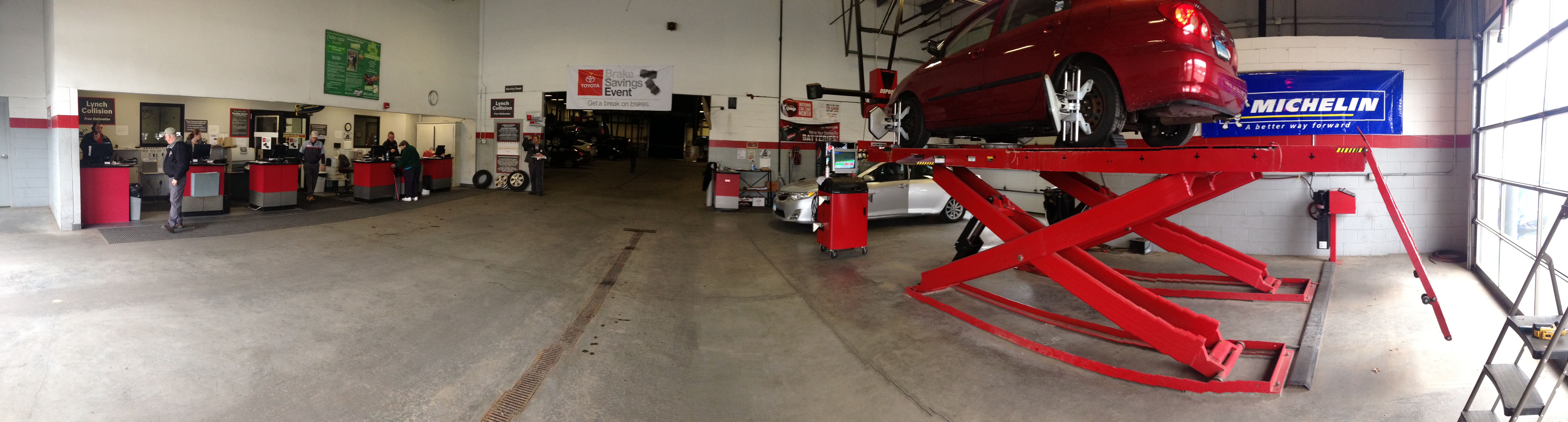 Picture Of Part Of Our Service Department Toyota Service Department