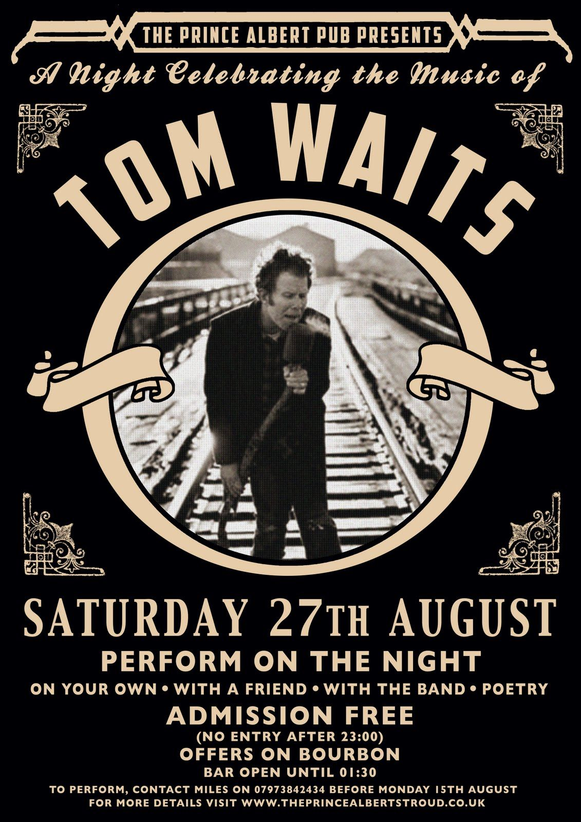 Tom Waits | Concert Posters/Music Posters | Pinterest