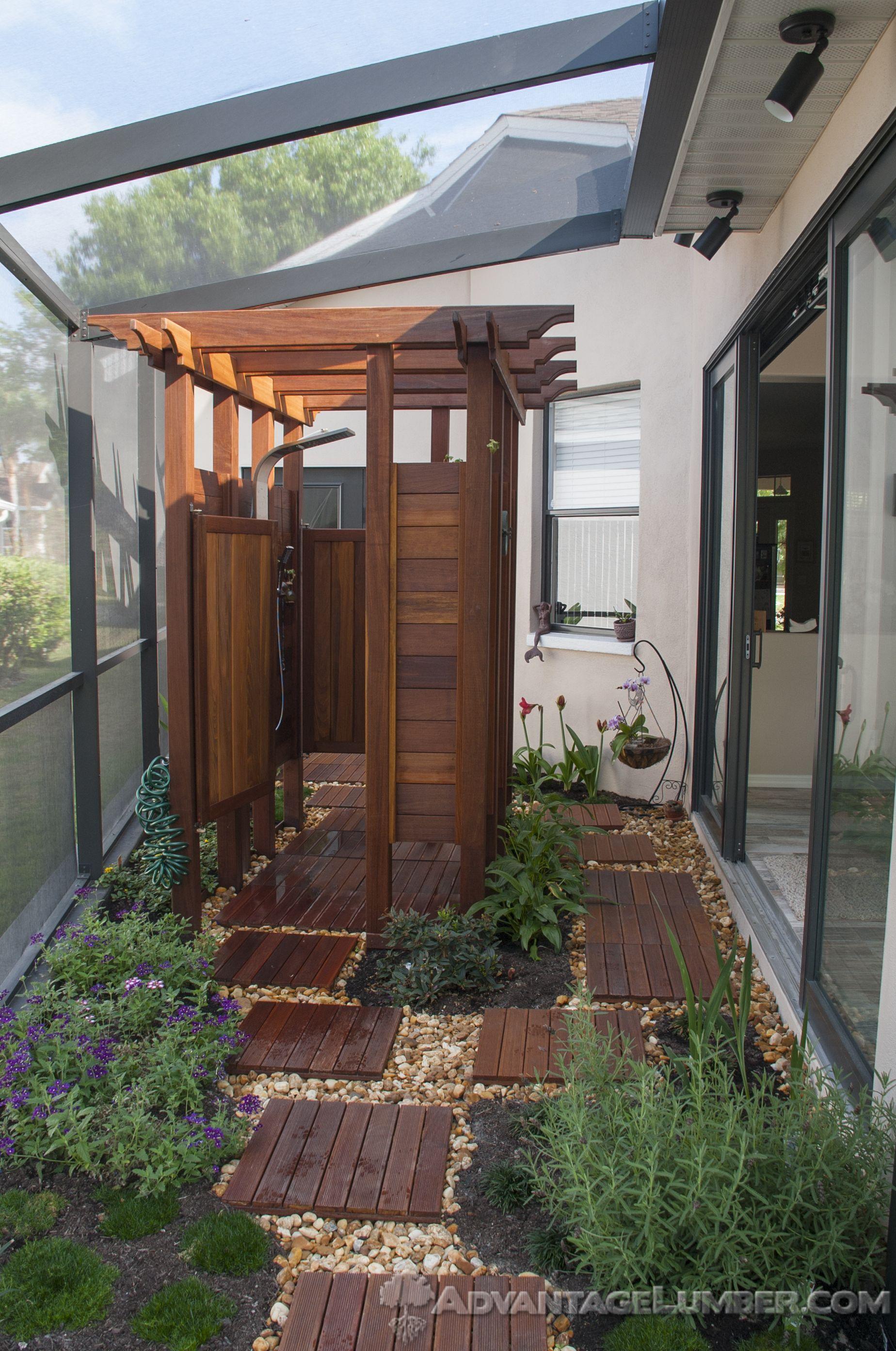 14 design ideas for an exhilarating outdoor shower enhance an