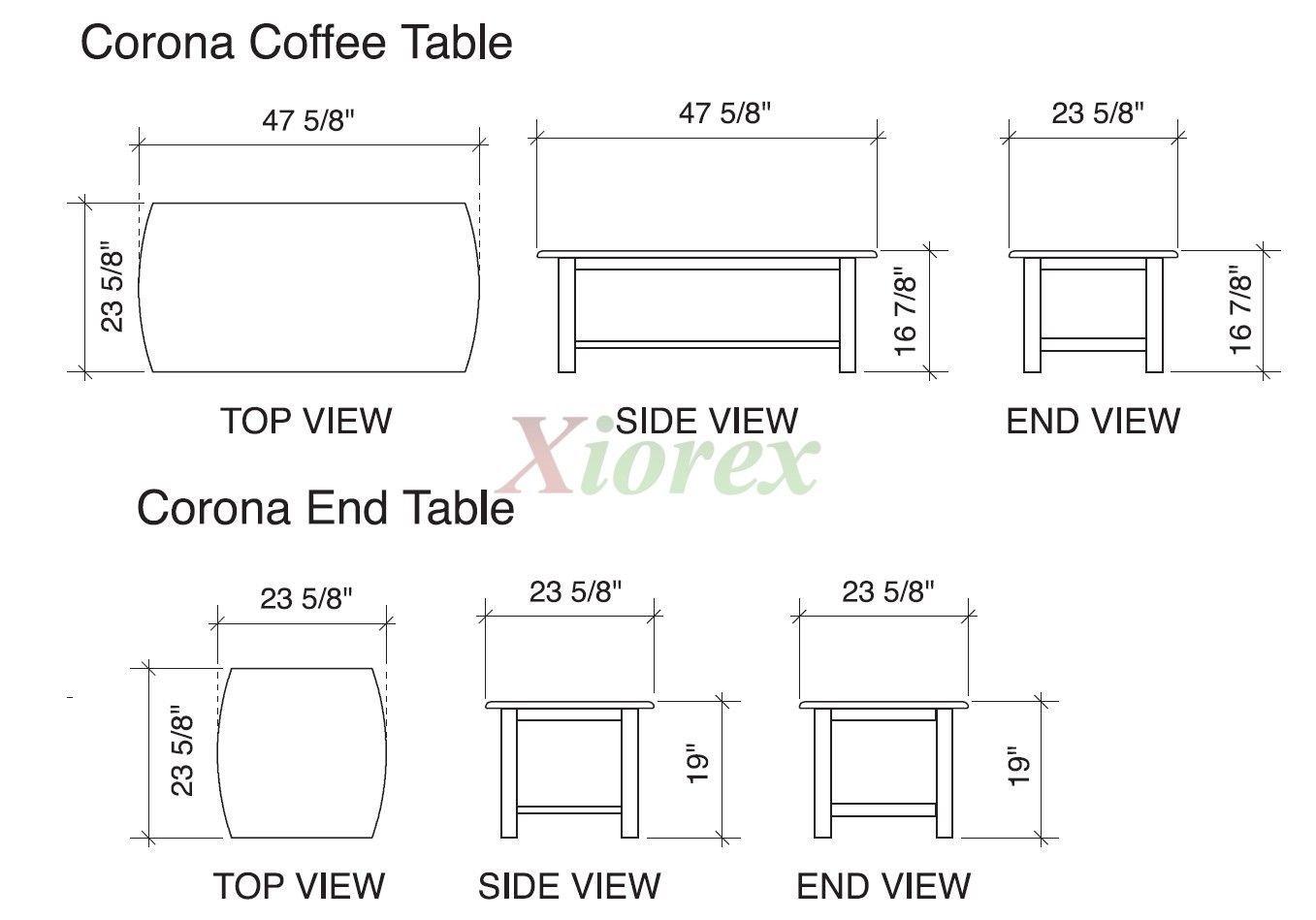 Standard Size Coffee Table Book Coffee Table Height Coffee