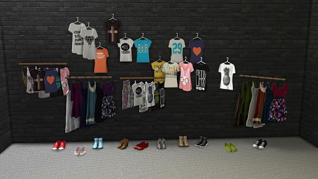 Sims 4 cc 39 s the best decorative clothing and shoes by for Mobilia para sims 4