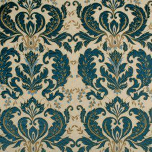 Mulberry OPERA DAMASK SAPPHIRE Fabric