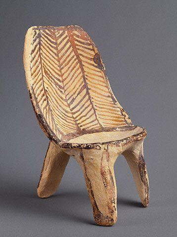 Chair Mycenae 14251100 BC The J Paul Getty Museum