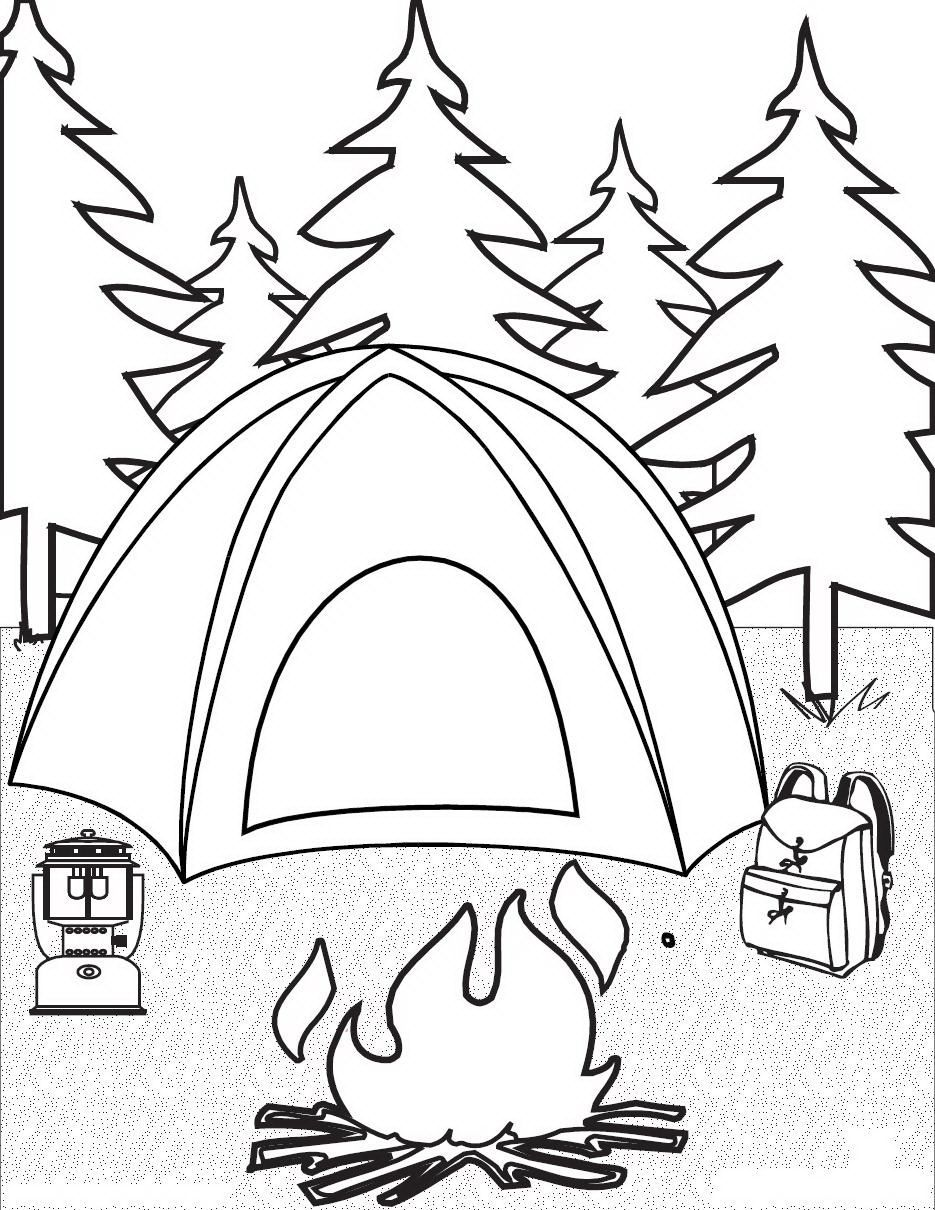 Camping Coloring Pages 2 work Pinterest Camping and Child