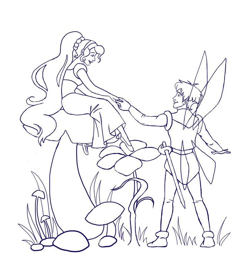 Coloring Pages Thumbelina Coloring Pages In Collection Tablet ...