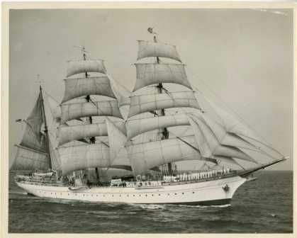 Eagle under sail, no date listed.