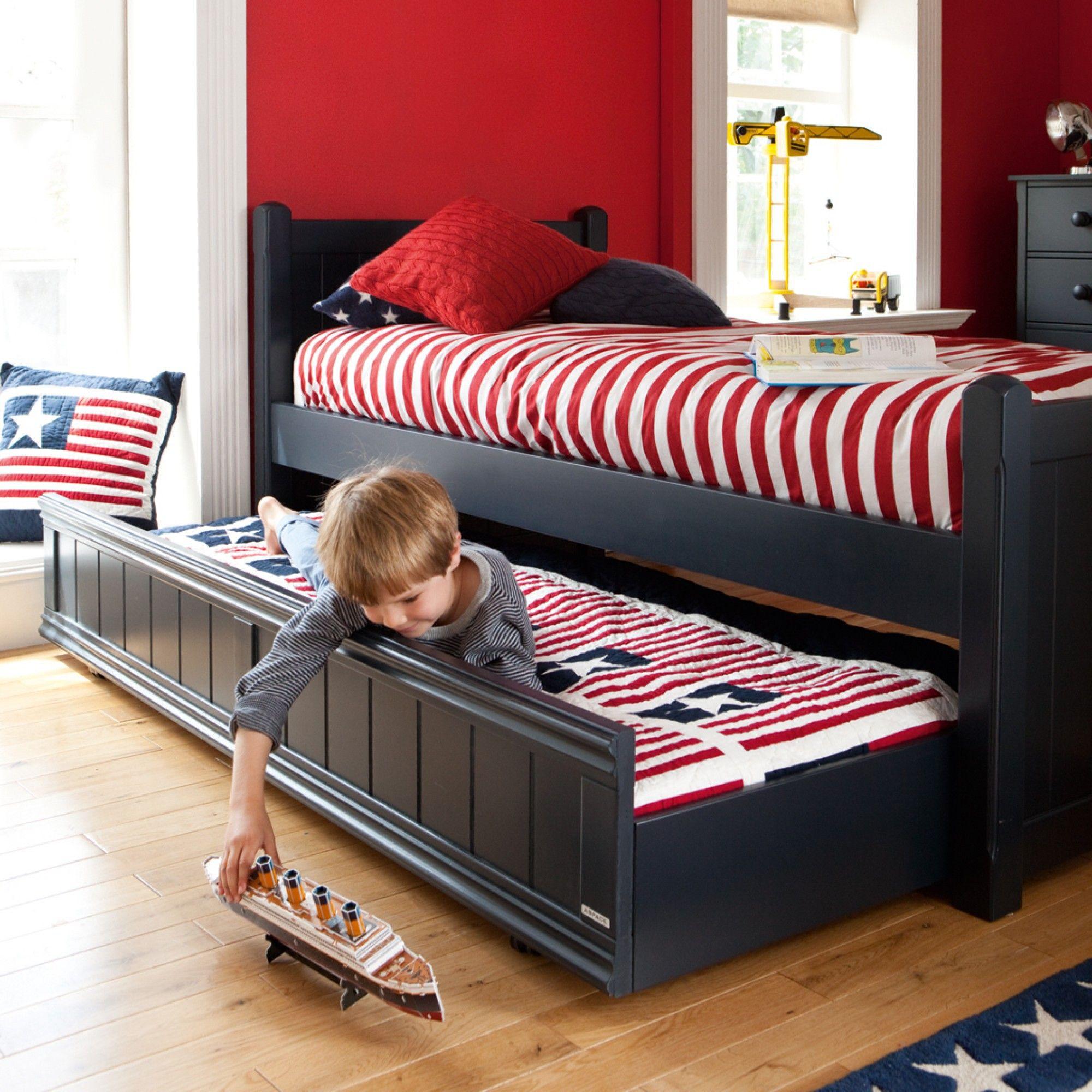 Charterhouse Sleepover Bed Prussian Blue Sleepover Beds Childrens Bedroom Furniture Sets Childrens Single Beds