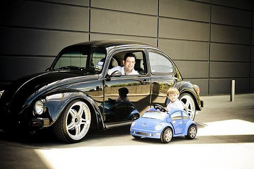 Fathers And Sons VW >> Vw Driver In Training Volkswagen Vw Beetles Vehicles