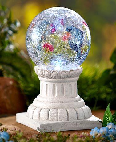 Solar Glass Ball Columns Bronze Pinterest