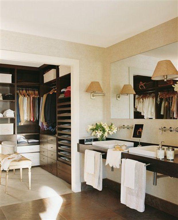 C mo decorar un ba o con vestidor c170 dormitorio ba o vestidor ba os con closet y ba o - Como decorar un bano pequeno moderno ...