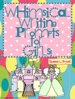 Writing takes a huge focus with the new Common Core!  These 75 writing titles and prompts for girls are excellent for use as weekly journal times, self-selected writings, writing homework, summer journals, and/or to encourage your young authors to dive fearlessly into writing!