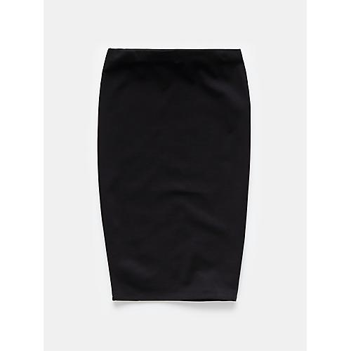 zwarte driekwart rok