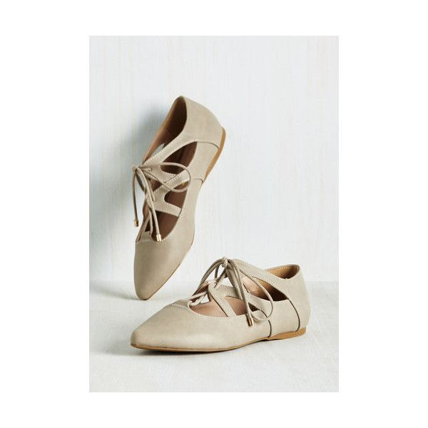 Safari Plie It ($35) ❤ liked on Polyvore featuring shoes, flats, ballet flat, cream, flat, cream flats, ballet shoes flats, skimmer flats, skimmer shoes and cream ballet flats