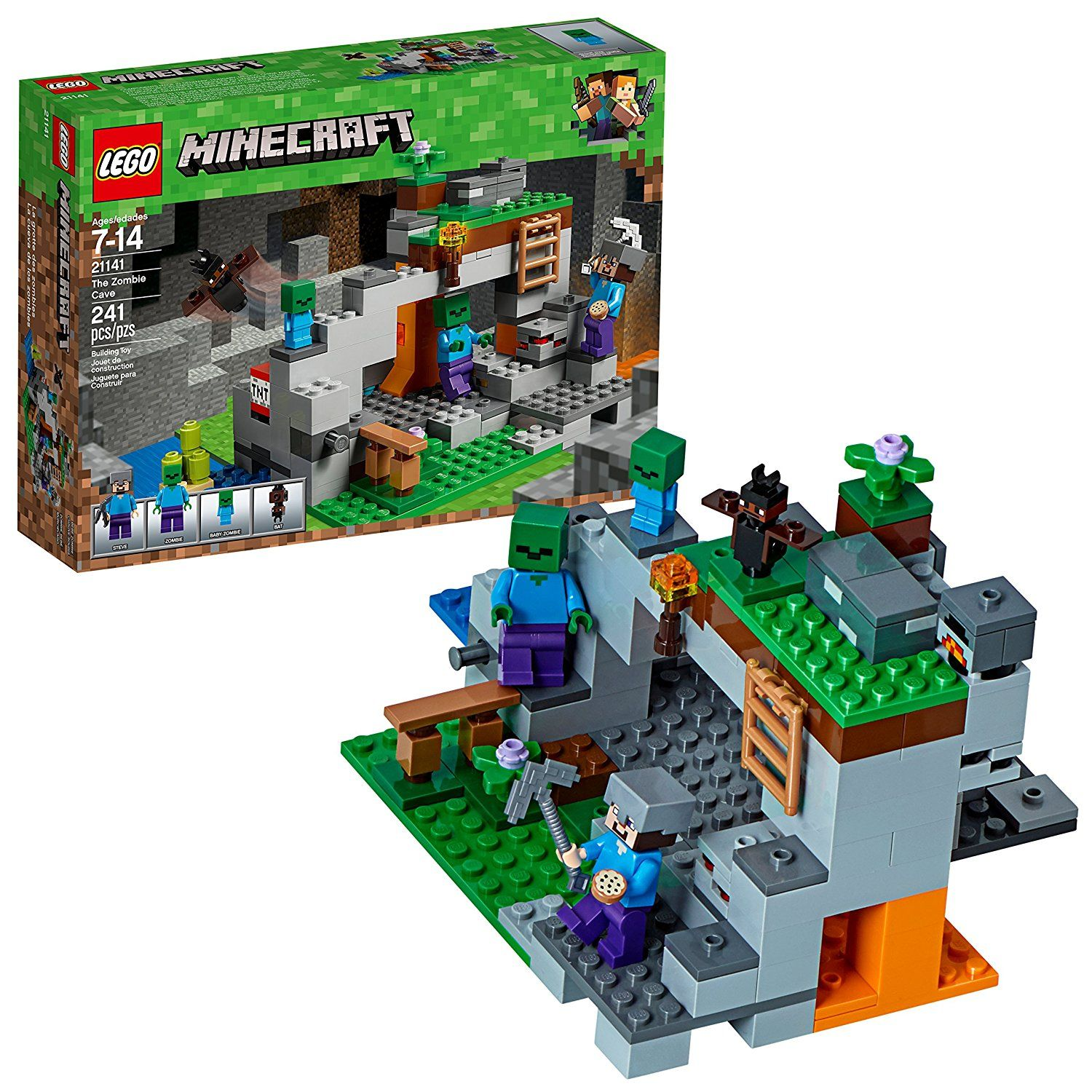 LEGO Minecraft the Zombie Cave 21141 Building Kit (241 Piece) This ...
