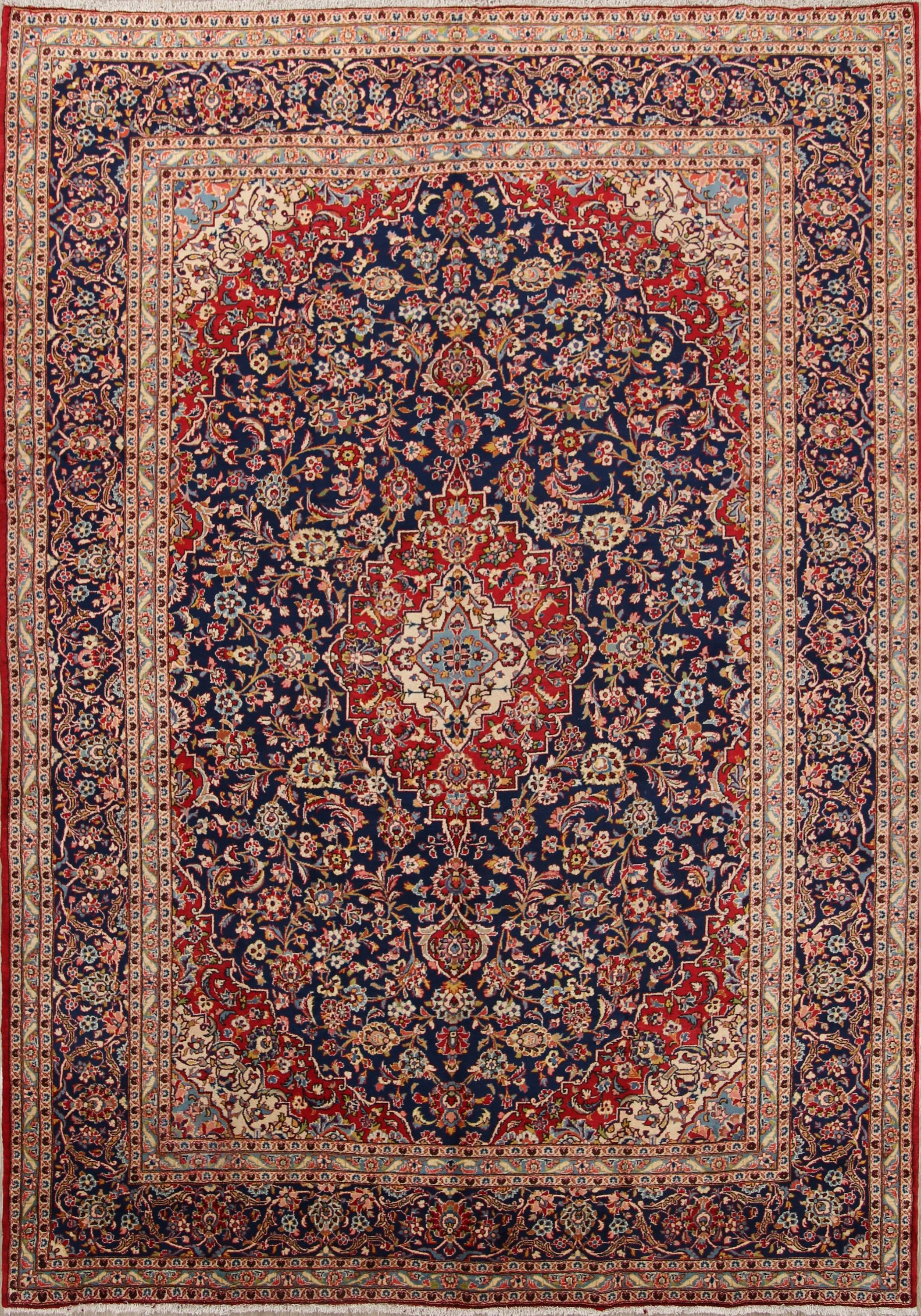 Traditional Fl 10x13 Kashan Persian Area Rug Online Unlimited Source Of Oriental