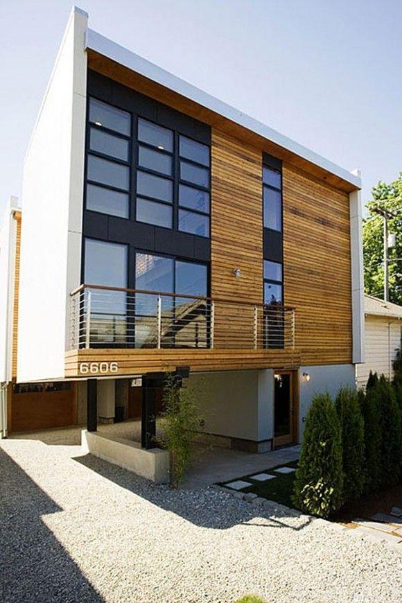 Fachadas De Casas Modernas Con Paneles De Madera Decorar