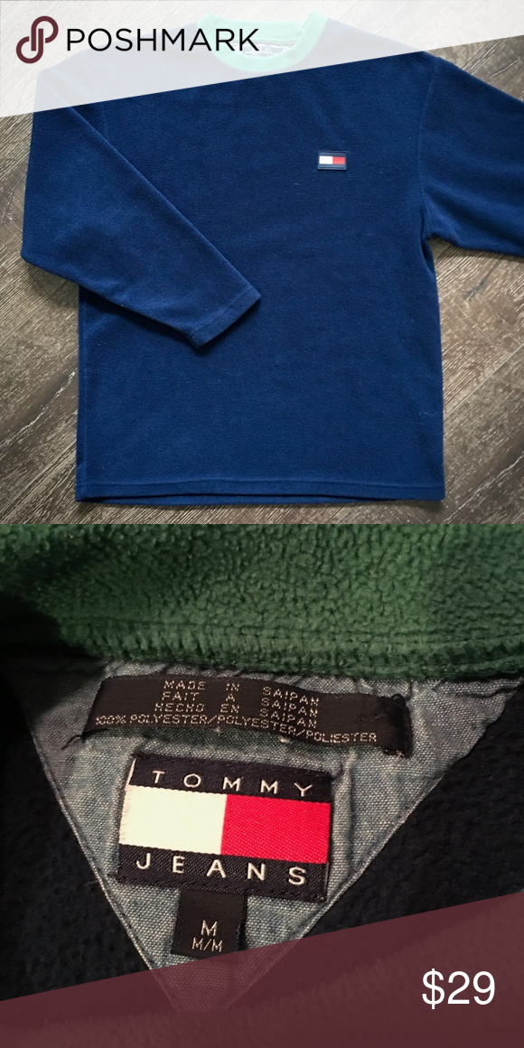 3c00e37c Vintage Tommy Hilfiger Fleece Pullover Sweater Get a deal on this iconic  brand with this throwback