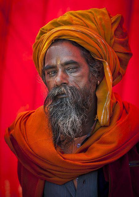 Naga Sadhu In Juna Akhara, Maha Kumbh Mela, Allahabad, India by Eric Lafforgue, via Flickr