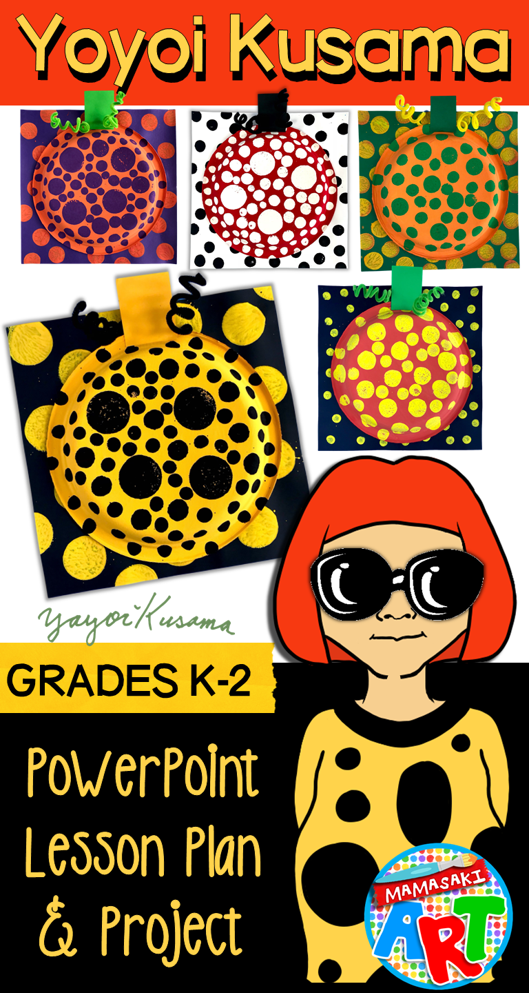 Yayoi Kusama Pumpkin Project for Younger Artists in 2019