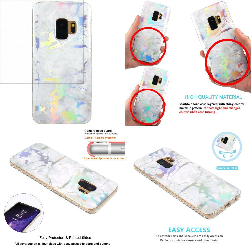 new arrival 4a3b6 7d4a2 RAINBOW CHARGED MARBLE New Color Changing Case Cover Holder for ...