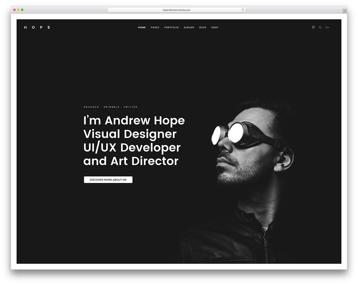 Best Vcard Wordpress Themes For Cv And Resume   Vcard