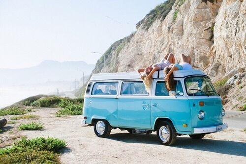 Vintage van summer beach friends vintage ocean fun sun hipster ...