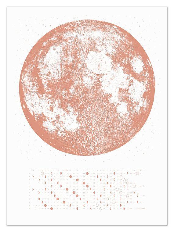 Wall calendar 2019, Moon Calendar 2019, lunar calendar, home decor