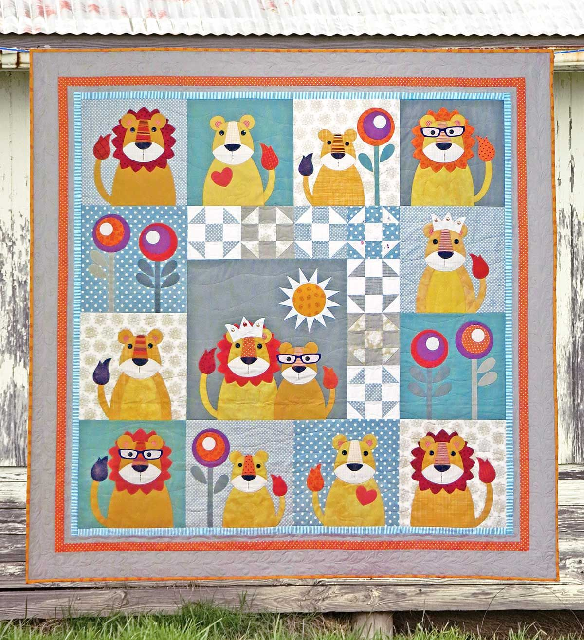 KING of the JUNGLE | Quilt Patterns | PDF Pattern | Quilts | Lion ... : lion quilt pattern - Adamdwight.com