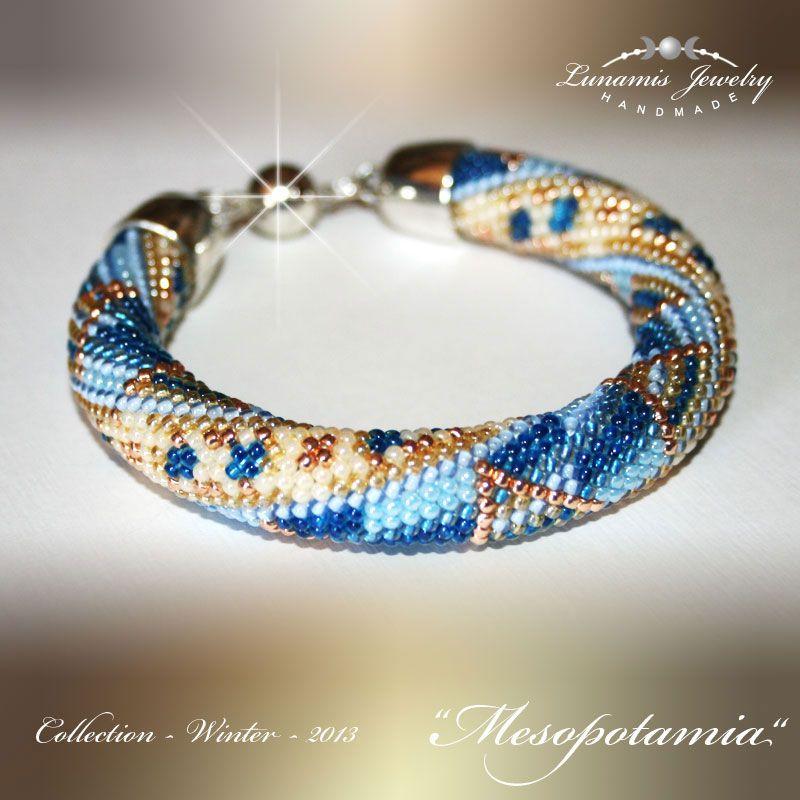 Bracelet beadcrochet toho handmade jewelry bead my beadwork beading jewelry perlen - Perlenarmband basteln ...
