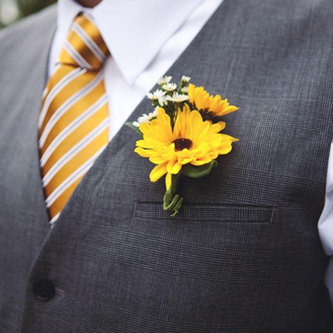 The 25 Best Sunflower Boutonniere Ideas On Pinterest