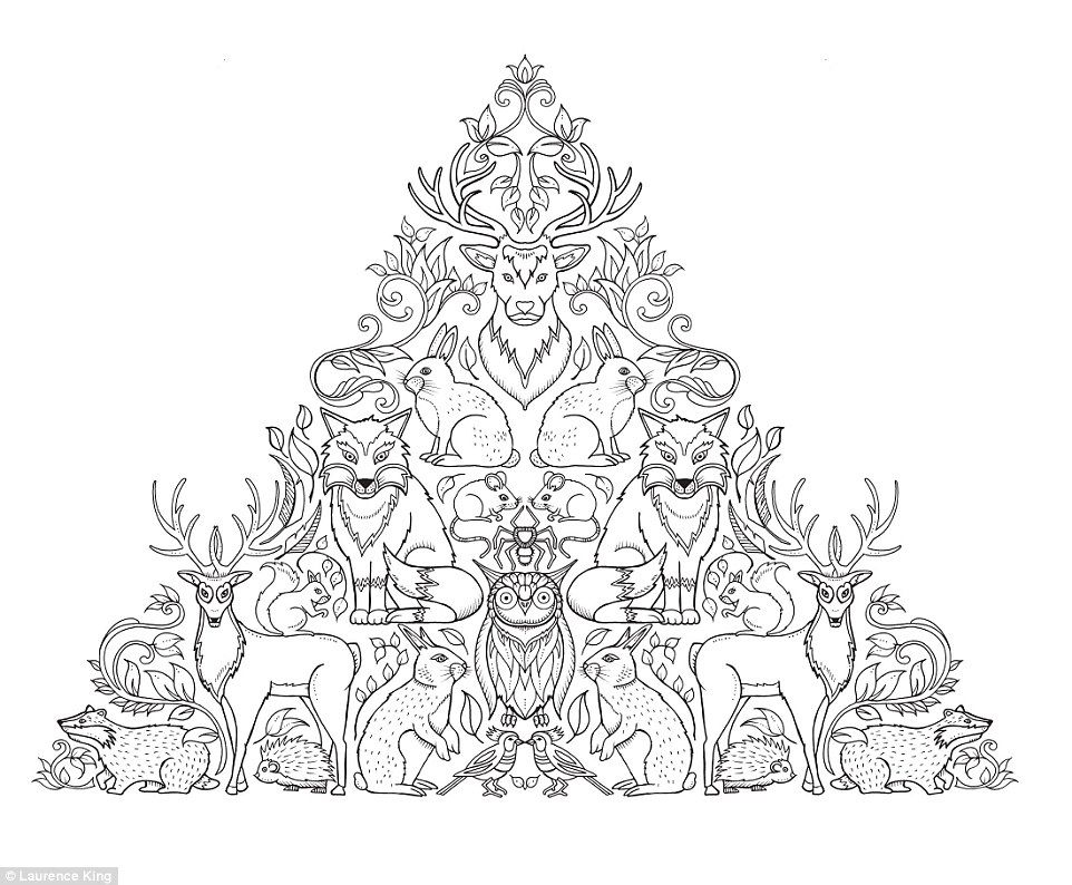 From Coloring Book For Adults Called Enchanted Forest Also Made Garden By Johanna Basford