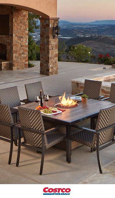Madrid 9 piece Fire Dining Set by Mission Hills Enjoy dining
