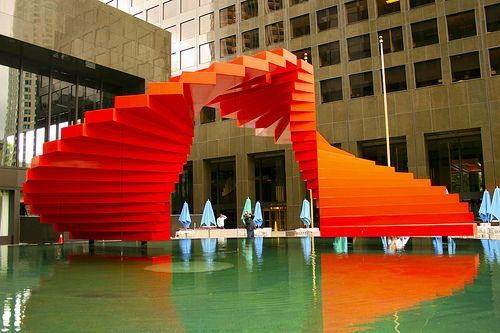 "Herbert Bayer's sculpture ""Double Ascension"""
